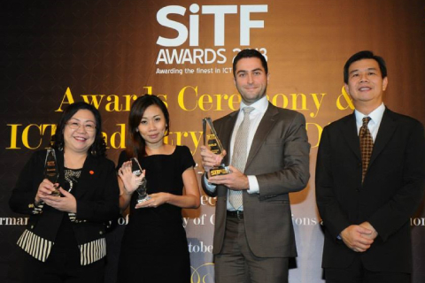 SiTF Awards was inaugurated in 2009 by Singapore infocomm Technology Federation (SiTF). This Award, championed by the industry, is an important accolade for made-in Singapore infocomm innovations.